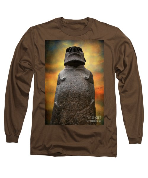 Long Sleeve T-Shirt featuring the photograph Hoa Hakananaia by Adrian Evans