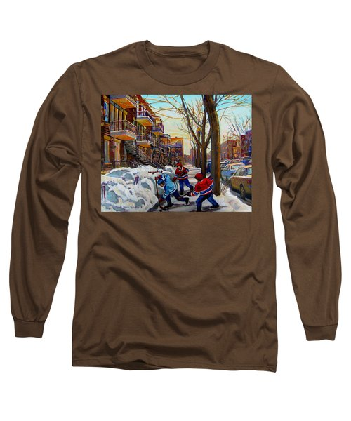 Hockey On De Bullion  Long Sleeve T-Shirt