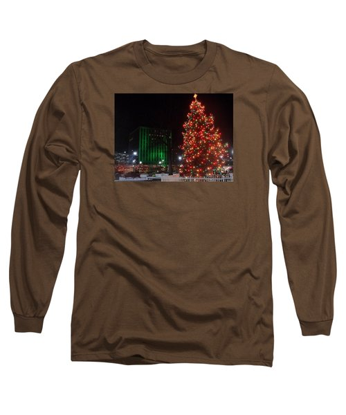 Holidays Downtown Long Sleeve T-Shirt by Christina Verdgeline