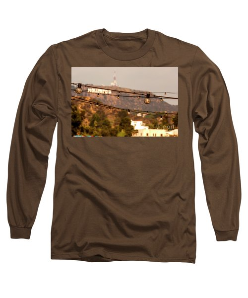 Long Sleeve T-Shirt featuring the photograph Hollywood Sign On The Hill 5 by Micah May