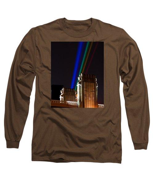 Hope Memorial Bridge, Aha Lights Long Sleeve T-Shirt