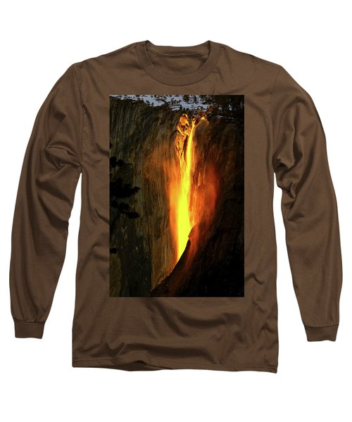 Horse Tail Fall Aglow Long Sleeve T-Shirt by Greg Norrell