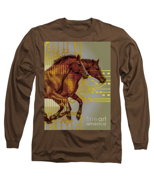The Sound Of The Horses. Long Sleeve T-Shirt by Moustafa Al Hatter