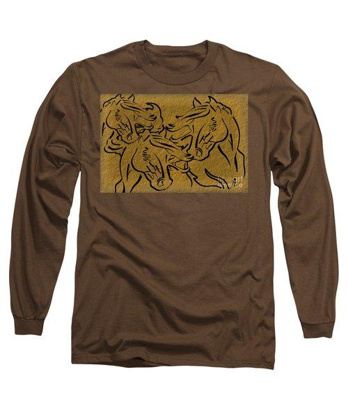 Horses Three Long Sleeve T-Shirt