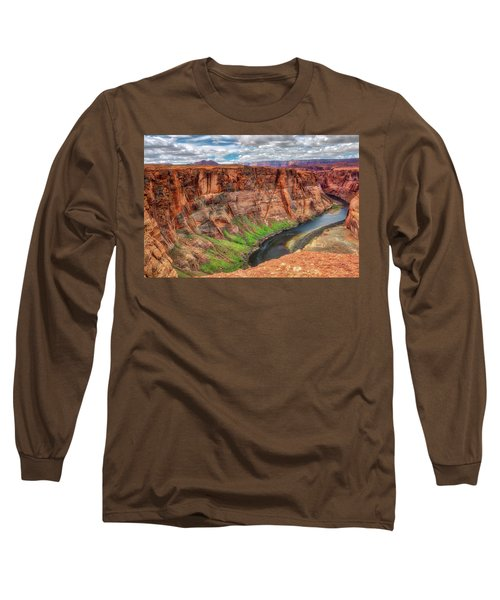 Horseshoe Bend Arizona - Colorado River #5 Long Sleeve T-Shirt by Jennifer Rondinelli Reilly - Fine Art Photography