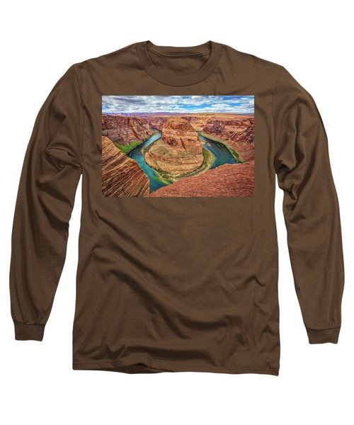Long Sleeve T-Shirt featuring the photograph Horseshoe Bend - Colorado River - Arizona by Jennifer Rondinelli Reilly - Fine Art Photography