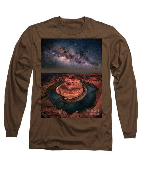 Horseshoe Bend With Milkyway Long Sleeve T-Shirt