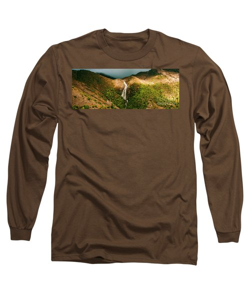 Horsetail Falls In Queenstown Tasmania Long Sleeve T-Shirt