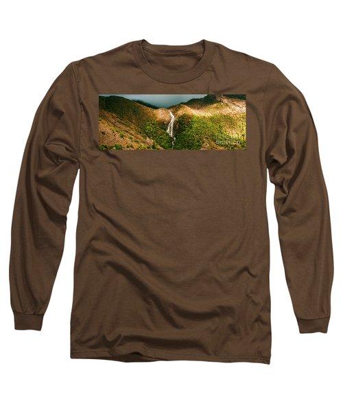 Horsetail Falls In Queenstown Tasmania Long Sleeve T-Shirt