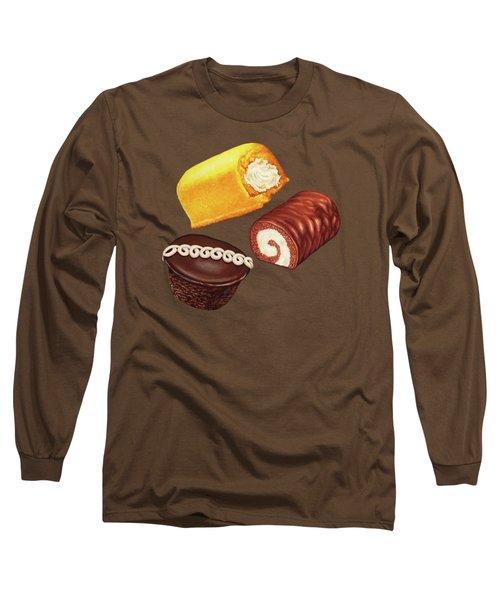 Hostess Cakes Pattern Long Sleeve T-Shirt