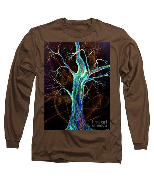Hot Blue Blood Long Sleeve T-Shirt