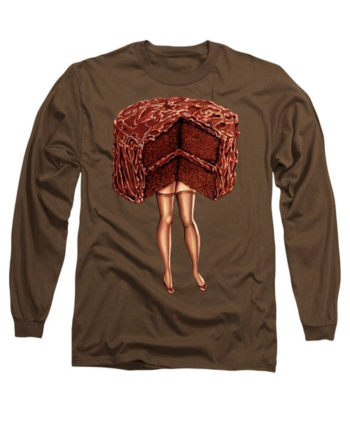 Hot Cakes - Devil's Food Long Sleeve T-Shirt by Kelly Gilleran