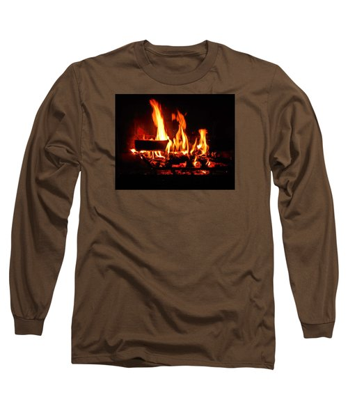 Long Sleeve T-Shirt featuring the photograph Hot Coals by Steve Godleski