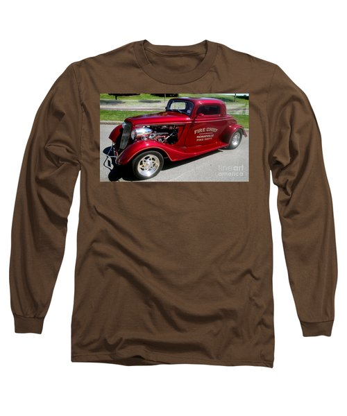 Hot Rod Chief Long Sleeve T-Shirt by Kevin Fortier