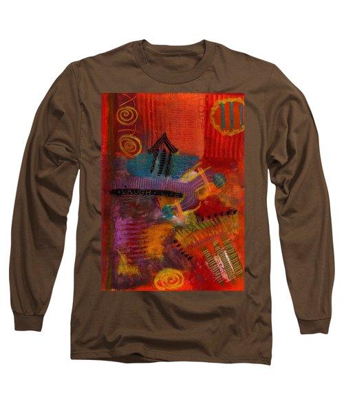 House Of Laughter Long Sleeve T-Shirt by Angela L Walker