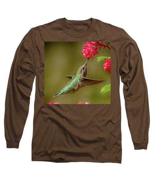 Hover Lunch Long Sleeve T-Shirt by Sheldon Bilsker