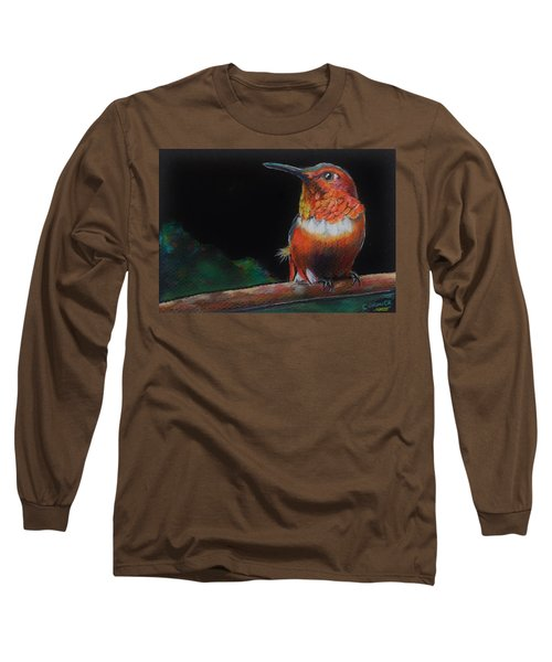 Hummingbird Long Sleeve T-Shirt by Jean Cormier