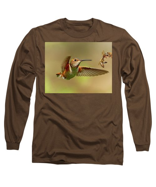 Hummingbird Vs. Bees Long Sleeve T-Shirt