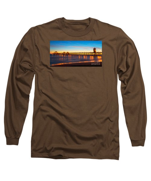 Huntington Beach Pier - Twilight Long Sleeve T-Shirt