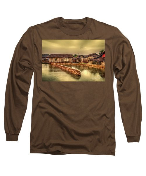 Long Sleeve T-Shirt featuring the photograph Huts 2 by Charuhas Images
