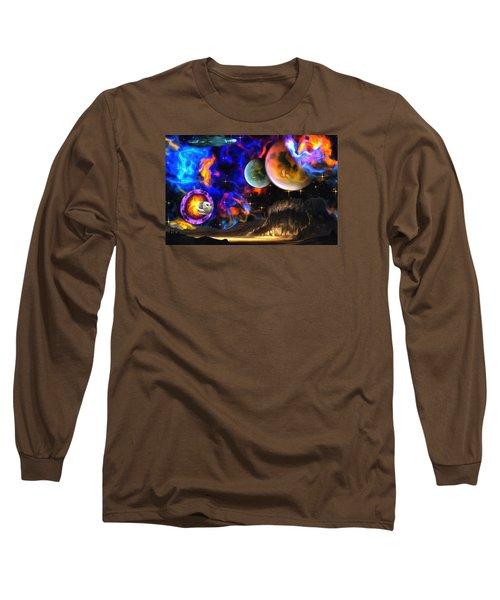 Hyperactivity Sector X66 In The Andromeda Gallaxy Long Sleeve T-Shirt by Mario Carini