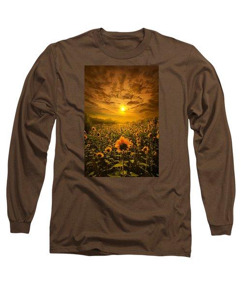 I Believe In New Beginnings Long Sleeve T-Shirt by Phil Koch