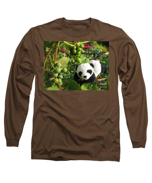 Long Sleeve T-Shirt featuring the photograph I Love Grapes B by Ausra Huntington nee Paulauskaite