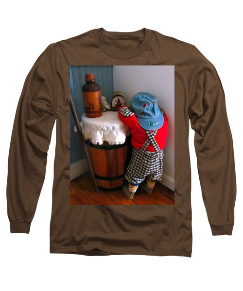 Long Sleeve T-Shirt featuring the painting I Shouldn't Have Done It by Lanjee Chee