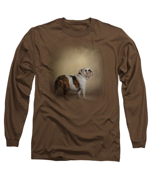 I Think I Smell A Treat - Bulldog Puppy Long Sleeve T-Shirt
