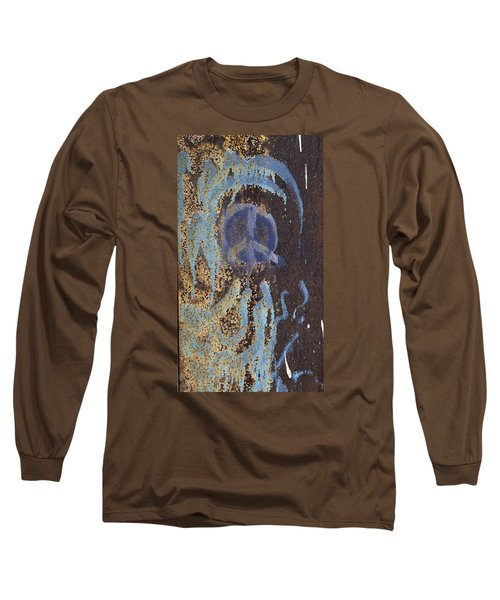 Long Sleeve T-Shirt featuring the photograph I Wish You Peace - Graffiti by Jane Eleanor Nicholas