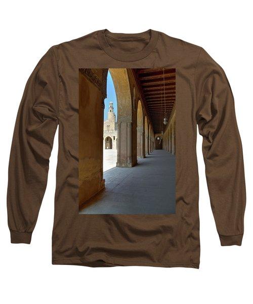 Ibn Tulun Great Mosque Long Sleeve T-Shirt by Nigel Fletcher-Jones