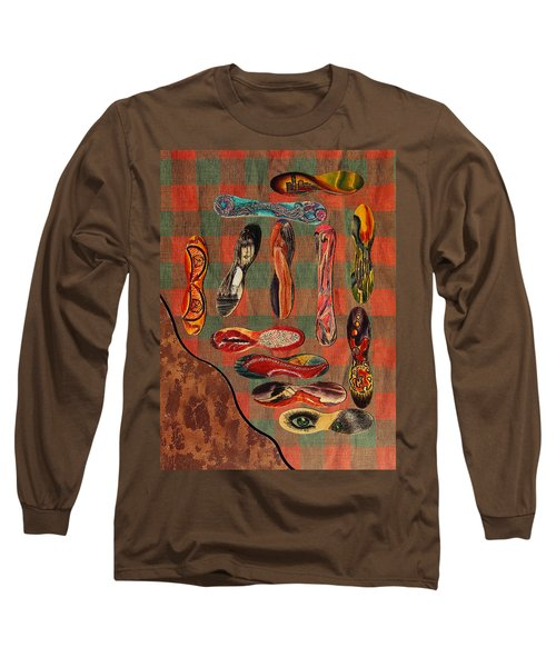 Long Sleeve T-Shirt featuring the painting Ice Cream Wooden Sticks by Viktor Savchenko