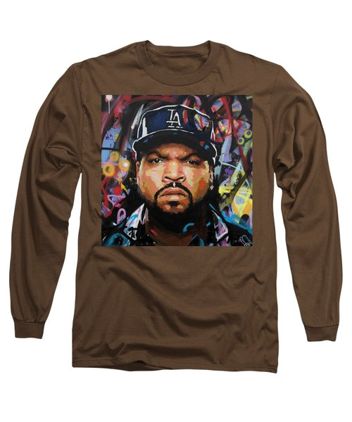 Long Sleeve T-Shirt featuring the painting Ice Cube by Richard Day