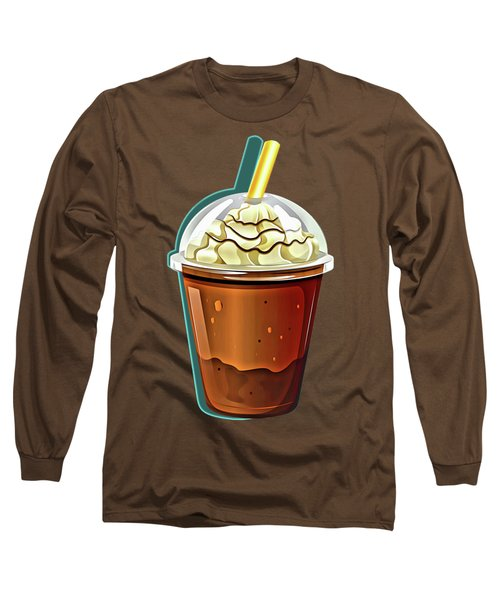 Iced Coffee To Go Pattern Long Sleeve T-Shirt