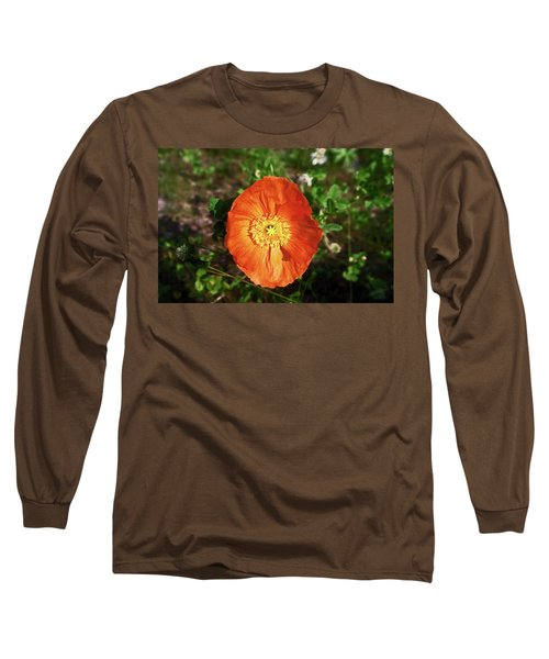 Long Sleeve T-Shirt featuring the photograph Iceland Poppy by Sally Weigand