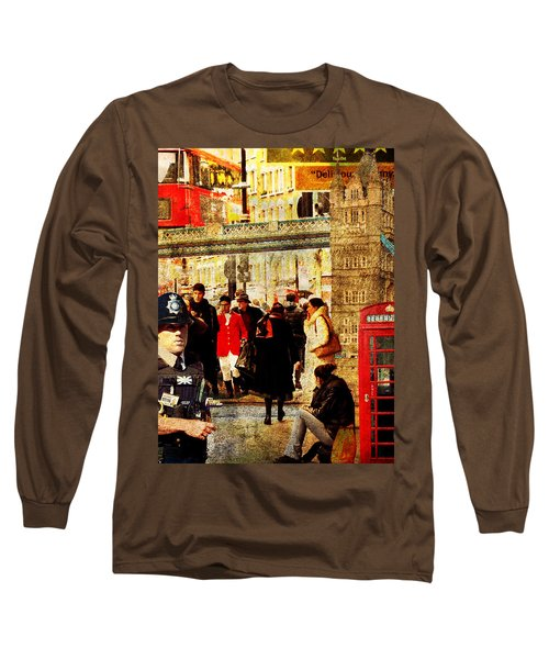 Iconic London Long Sleeve T-Shirt by Judi Saunders