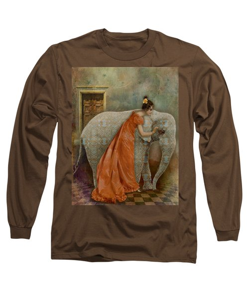 If Elephants Were Painted Long Sleeve T-Shirt by Lisa Noneman