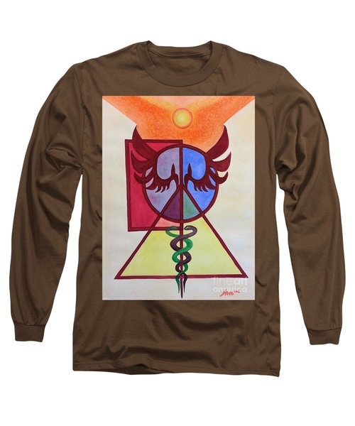 Long Sleeve T-Shirt featuring the painting Illumination by Steed Edwards