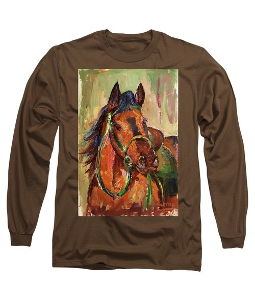 Impressionist Horse Long Sleeve T-Shirt by Janet Garcia