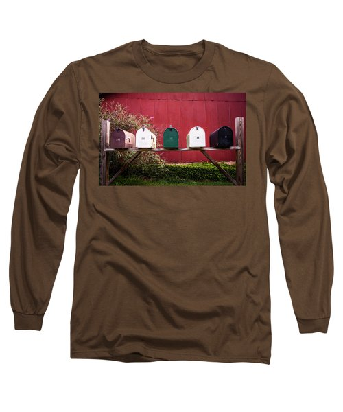 In A Row Long Sleeve T-Shirt by Parker Cunningham