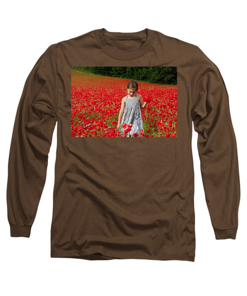 In A Sea Of Poppies Long Sleeve T-Shirt