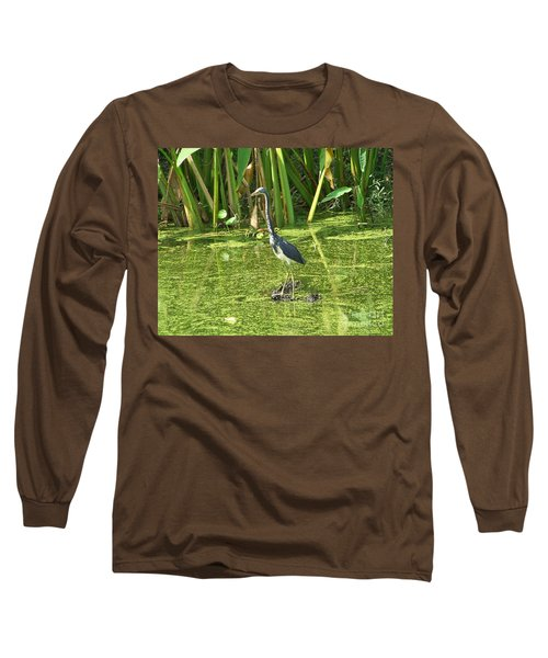 Long Sleeve T-Shirt featuring the photograph In Green Soup by Carol  Bradley