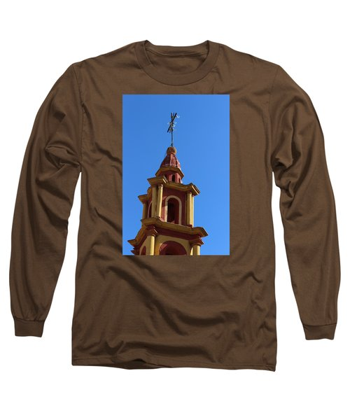 In Mexico Bell Tower Long Sleeve T-Shirt by Cathy Anderson