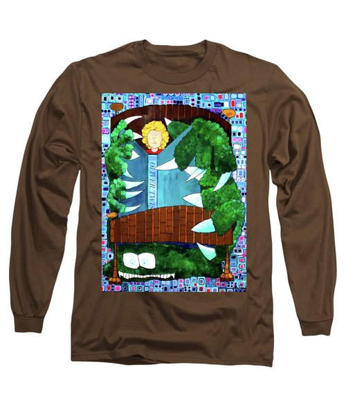 Long Sleeve T-Shirt featuring the painting In My Room by Donna Howard