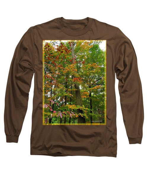Long Sleeve T-Shirt featuring the photograph In The Height Of Autumn by Joan  Minchak