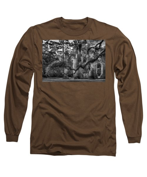 In The Light 2 Spanish Moss Old Sheldon Church Ruins Long Sleeve T-Shirt