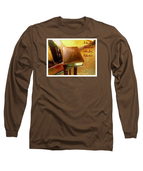In The Volume Of The Book Long Sleeve T-Shirt by Glenn McCarthy Art and Photography