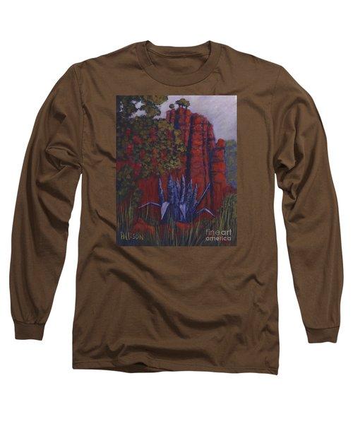 Indian Lodge Courtyard Fort Davis, Tx Long Sleeve T-Shirt