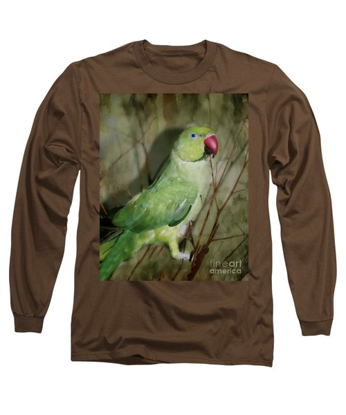 Indian Ringneck Parrot Long Sleeve T-Shirt