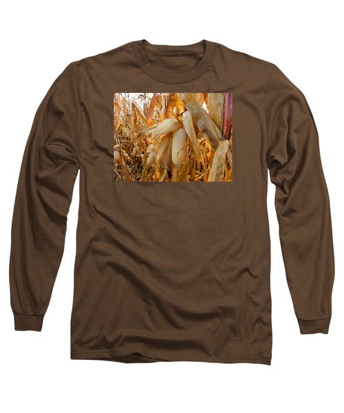 Indiana Corn 3 Long Sleeve T-Shirt by Tina M Wenger